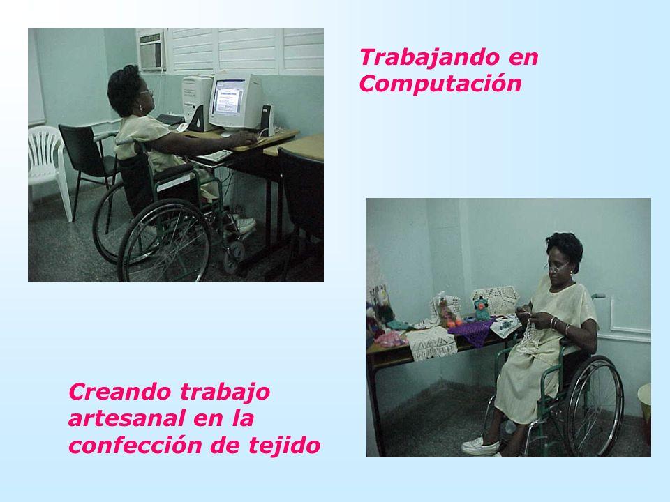 Trabajando en Computación Creando trabajo artesanal en la confección de tejido