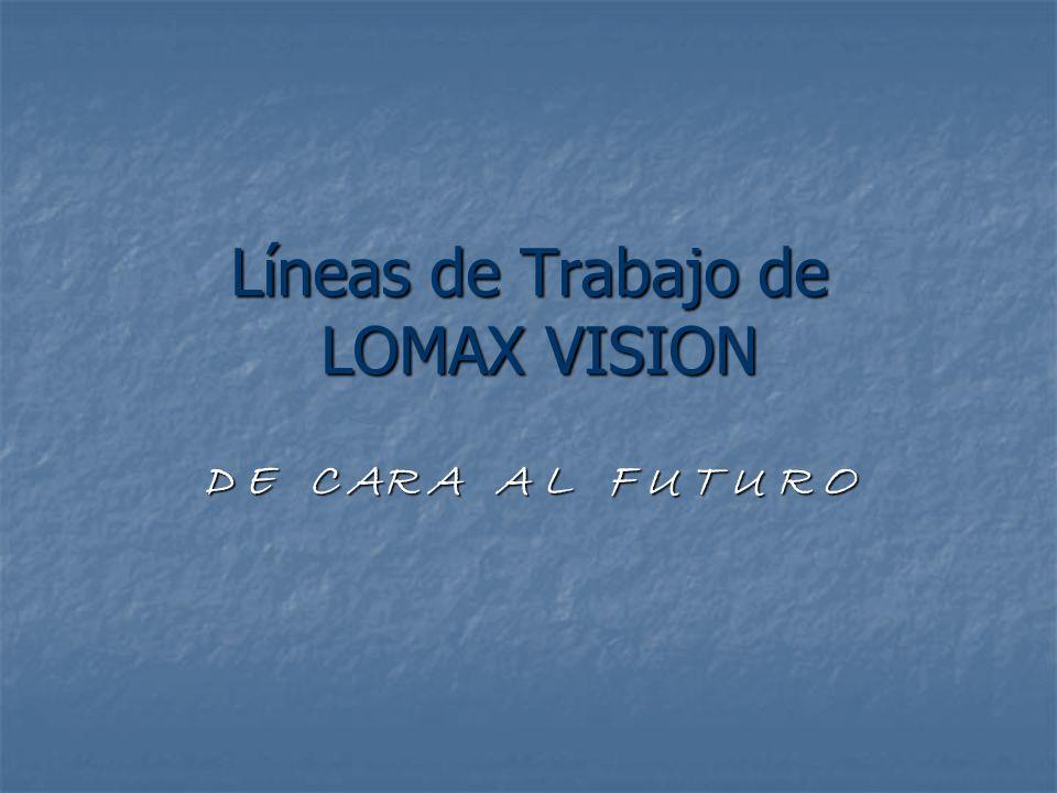 Líneas de Trabajo de LOMAX VISION D E C AR A A L F U T U R O