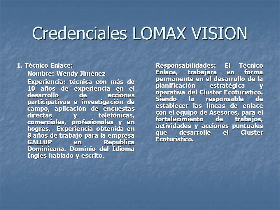 Credenciales LOMAX VISION 1.