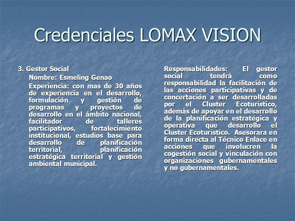 Credenciales LOMAX VISION 3.