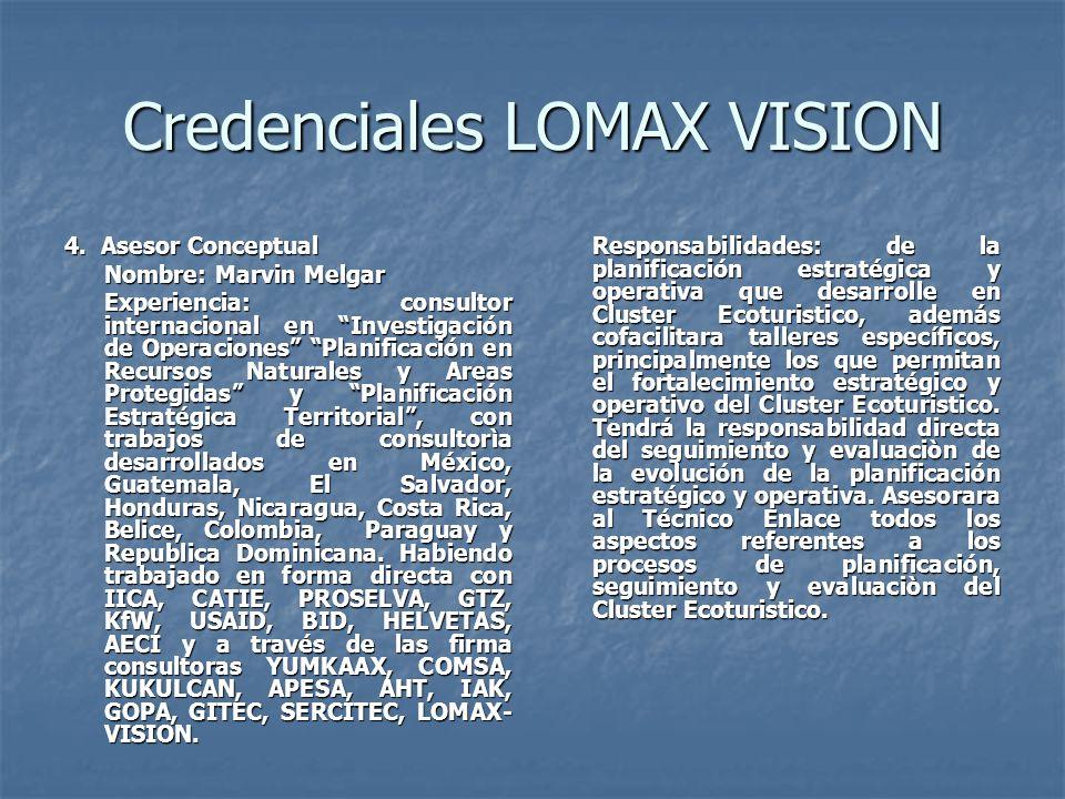 Credenciales LOMAX VISION 4.