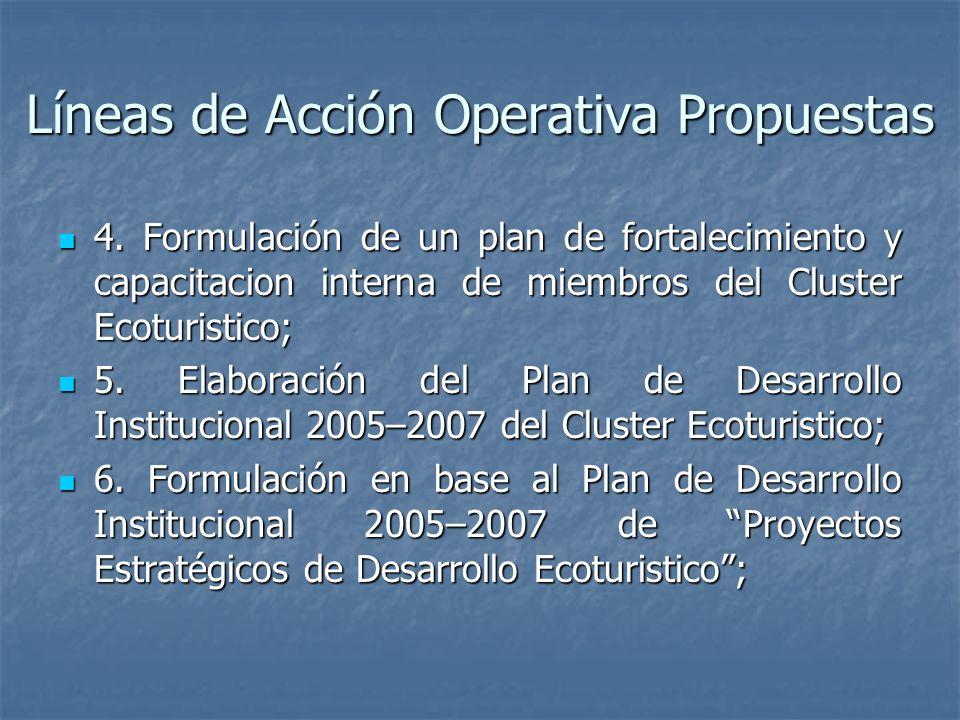 Líneas de Acción Operativa Propuestas 4.