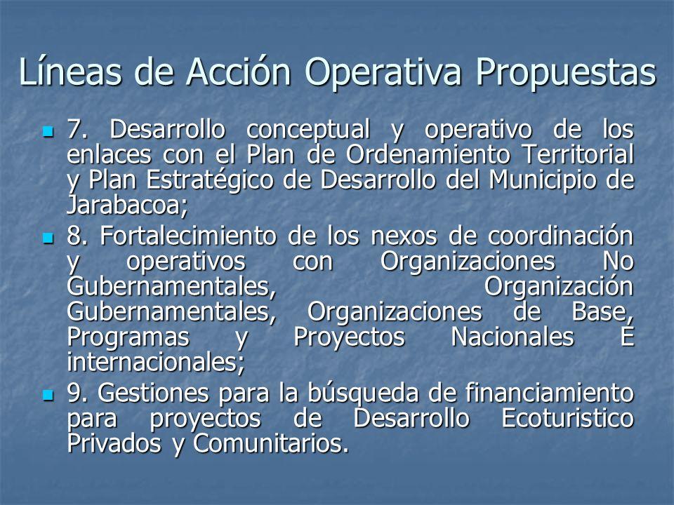 Líneas de Acción Operativa Propuestas 7.