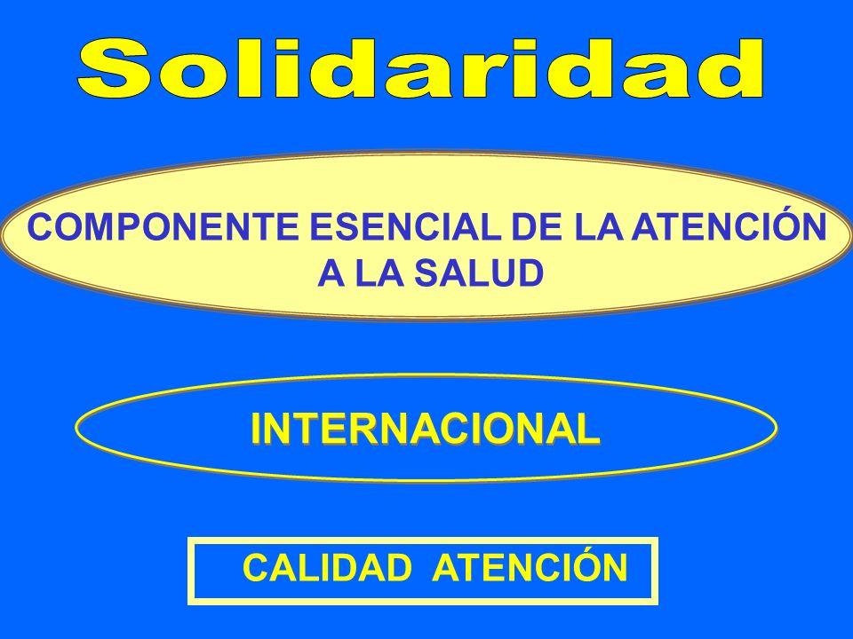 COMPONENTE ESENCIAL DE LA ATENCIÓN A LA SALUD CALIDAD ATENCIÓN INTERNACIONAL