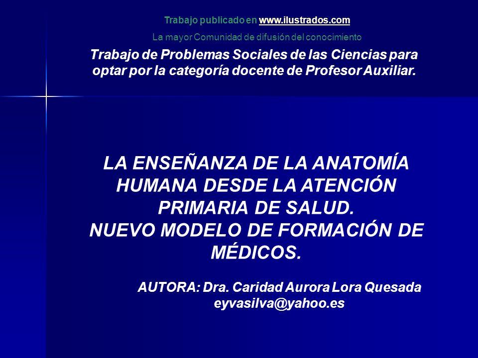 Trabajo de Problemas Sociales de las Ciencias para optar por la categoría docente de Profesor Auxiliar.