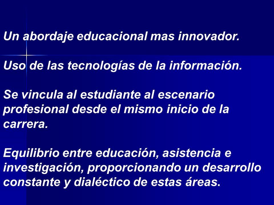 Un abordaje educacional mas innovador.Uso de las tecnologías de la información.