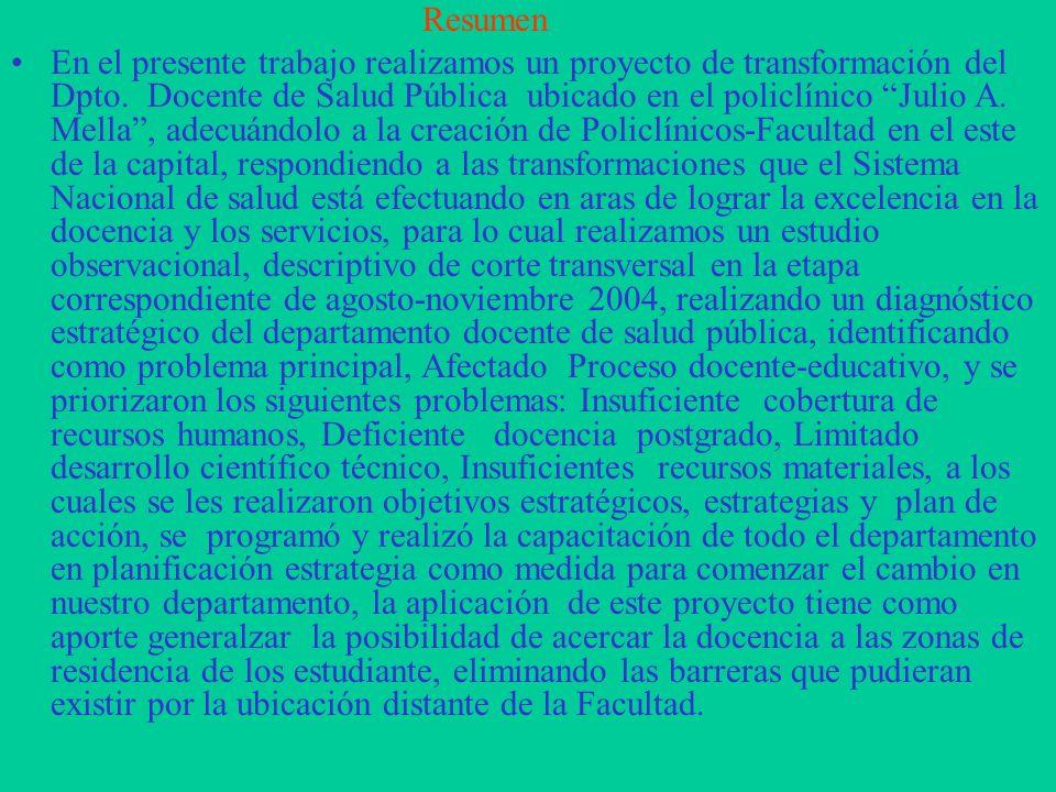 La participación de la mujer en el camino a la excelencia en la Docencia. Facultad Dr. Miguel Enríquez. Autores: MSc. Dra. Marta Álvarez Sáez Profesor