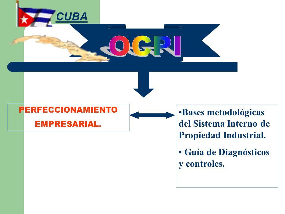 PERFECCIONAMIENTO EMPRESARIAL. Bases metodológicas del Sistema Interno de Propiedad Industrial. Guía de Diagnósticos y controles. CUBA