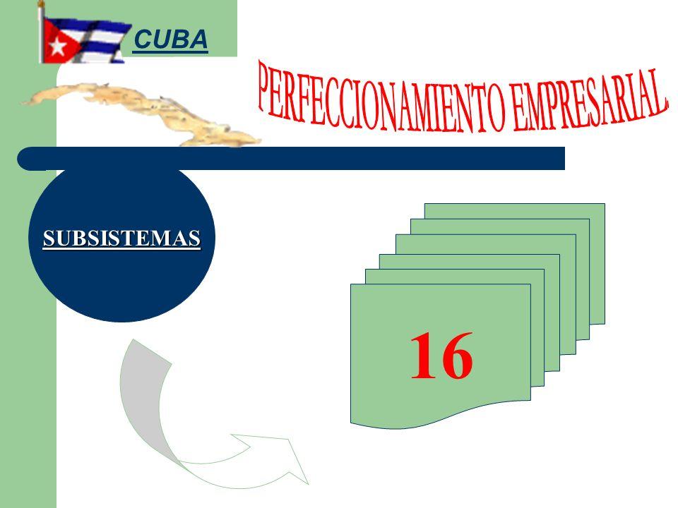 SUBSISTEMAS 16 CUBA