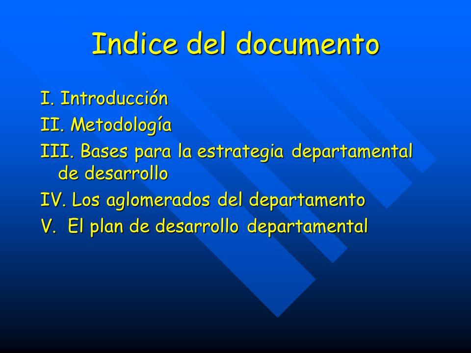 Indice del documento I. Introducción II. Metodología III.