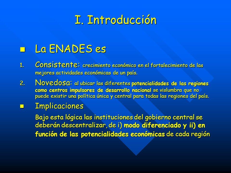 I. Introducción La ENADES es La ENADES es 1.