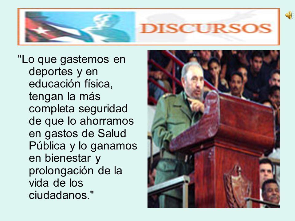 Fidel Castro Ruz: No basta con que formemos mentalmente a los jóvenes y a los niños, hay que formarlos físicamente