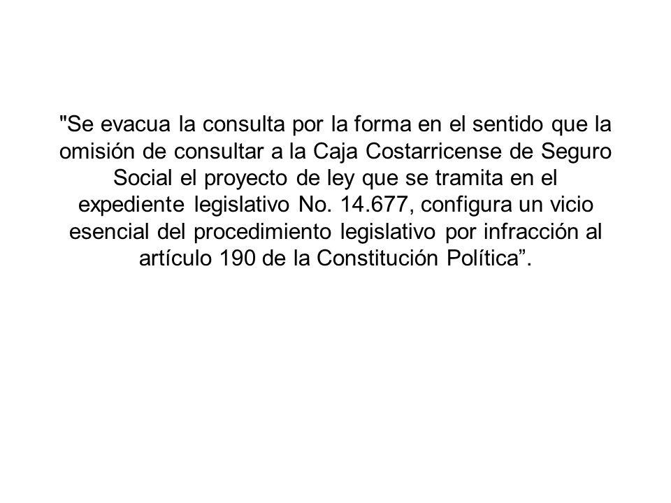 Motivaciones de los Diputados: –Se omitió realizar la consulta la CCSS, pues se pretende que la propina no afecte cargas sociales.
