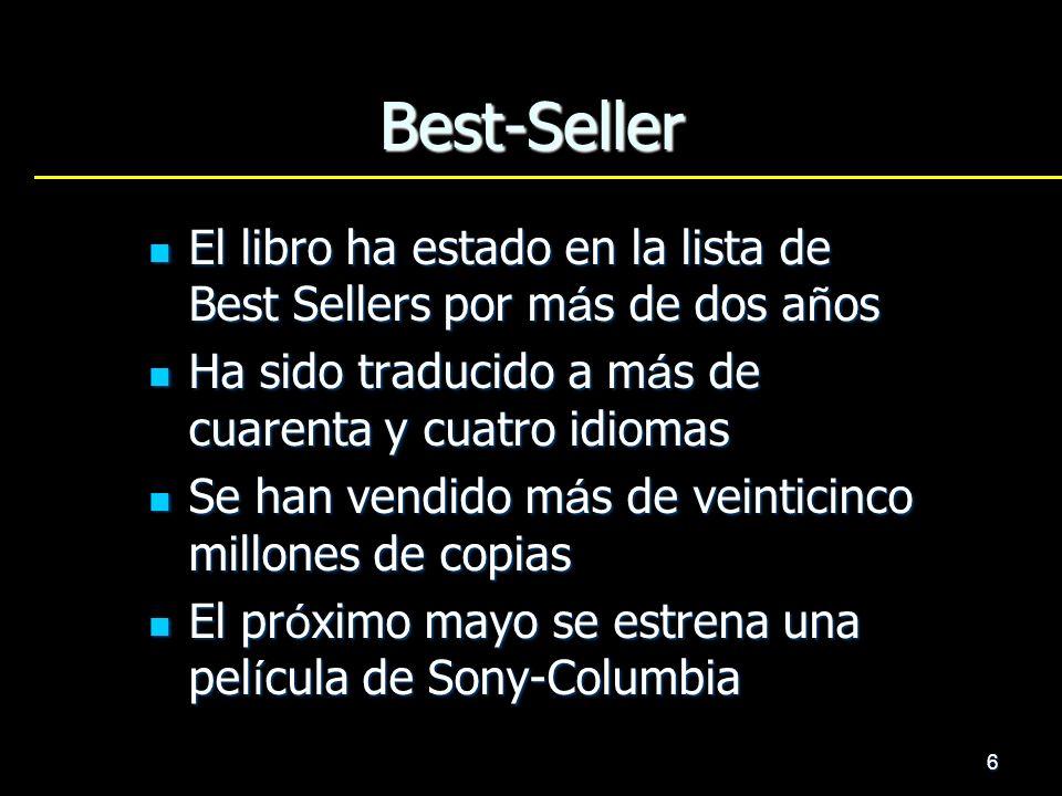 6 Best-Seller El libro ha estado en la lista de Best Sellers por m á s de dos a ñ os El libro ha estado en la lista de Best Sellers por m á s de dos a