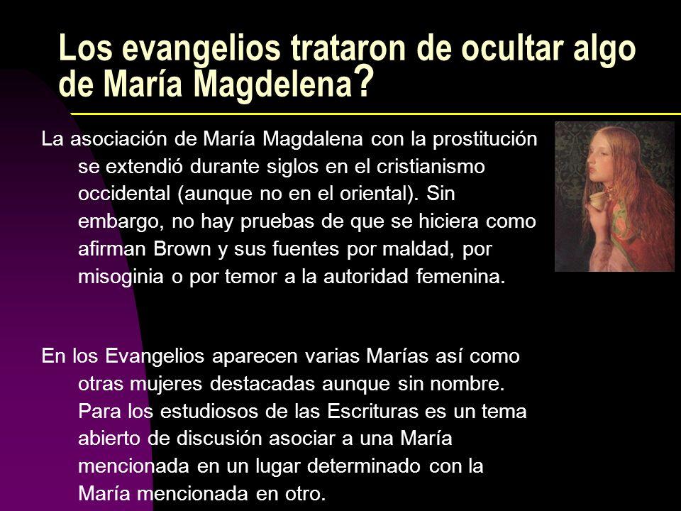 Los evangelios trataron de ocultar algo de María Magdelena ? La asociación de María Magdalena con la prostitución se extendió durante siglos en el cri