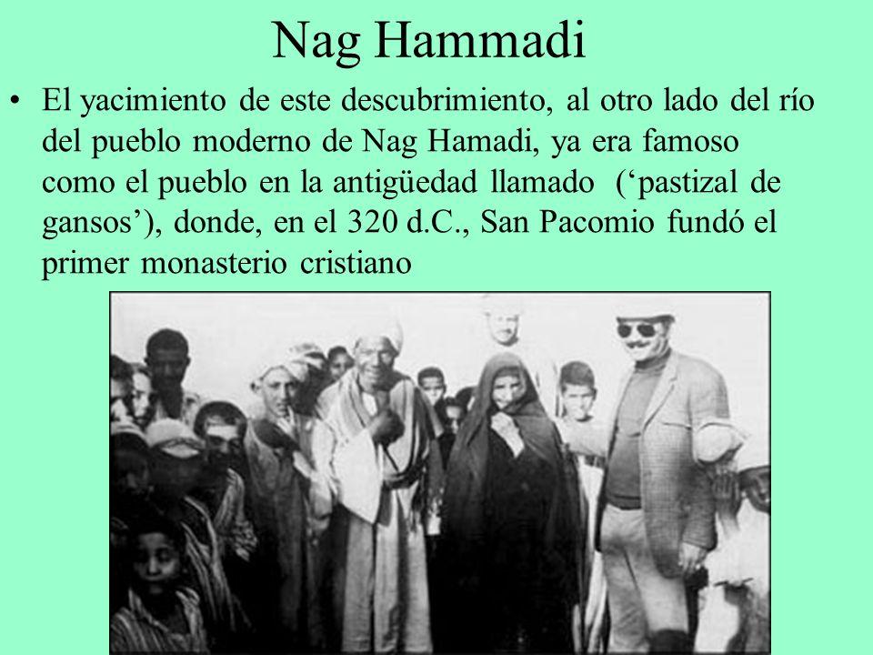 El yacimiento de este descubrimiento, al otro lado del río del pueblo moderno de Nag Hamadi, ya era famoso como el pueblo en la antigüedad llamado (pa