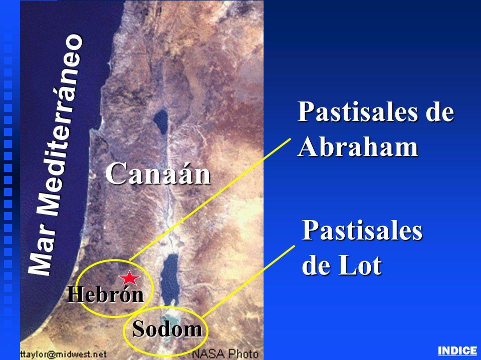 Canaan - (Land of Israel) Mar Mediterráneo Canaán Sodom Pastisales de Abraham Pastisales de Lot Hebrón Abraham in Canaan INDICE