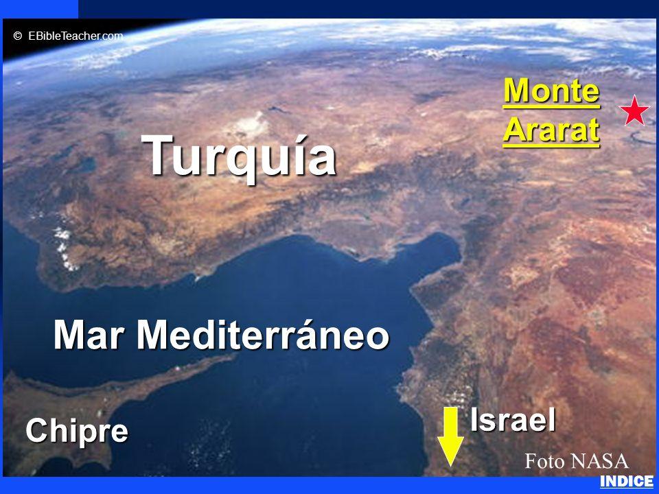Click to add title n Click to add text Mar Mediterráneo Chipre Turquía MonteArarat Foto NASA © EBibleTeacher.com Israel Noahs Ark 2 INDICE