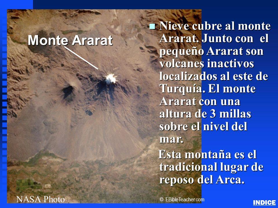 Click to add title n Nieve cubre al monte Ararat. Junto con el pequeño Ararat son volcanes inactivos localizados al este de Turquía. El monte Ararat c
