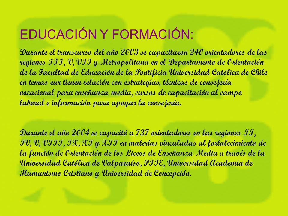 MERCADO LABORAL: El Mercado Laboral está inserto en Chile Califica, como una herramienta para desarrollar un sistema de información para la educación y capacitación permanente y la movilidad laboral como elemento central para estimular la demanda informada por parte de los usuarios de los servicios del programa.