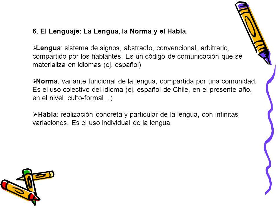 7.Variables de la lengua, que determinan la norma lingüística: a)Tiempo: variación diacrónica.