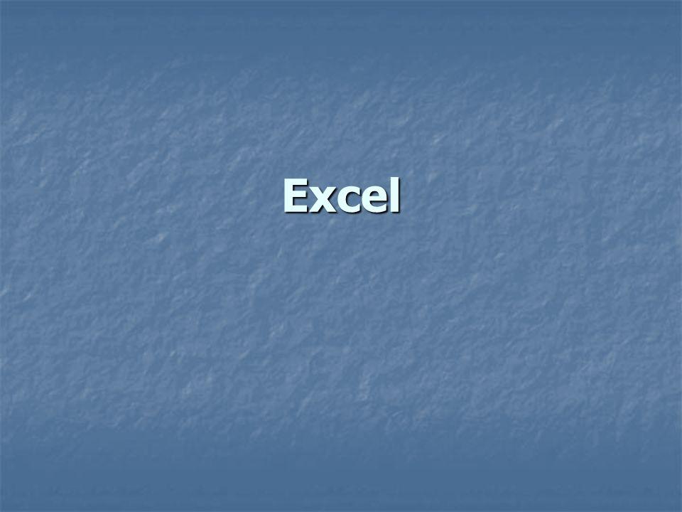 Excel Es una hoja de cálculo, que nos sirve para hacer formatos, plantillas para algunos documentos, hojas de análisis de información, bases de datos, gráficos, etc.