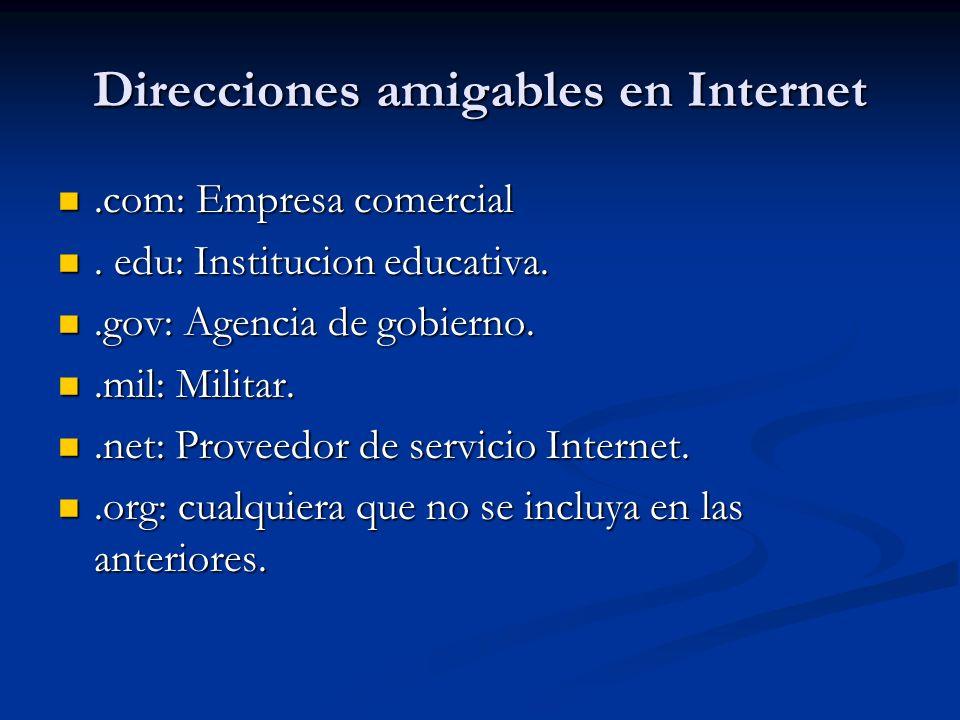 Direcciones amigables en Internet.com: Empresa comercial.com: Empresa comercial.