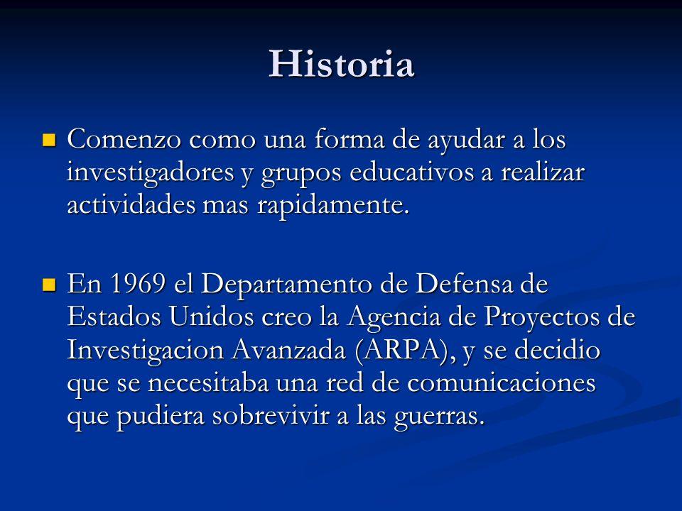 Historia Comenzo como una forma de ayudar a los investigadores y grupos educativos a realizar actividades mas rapidamente.