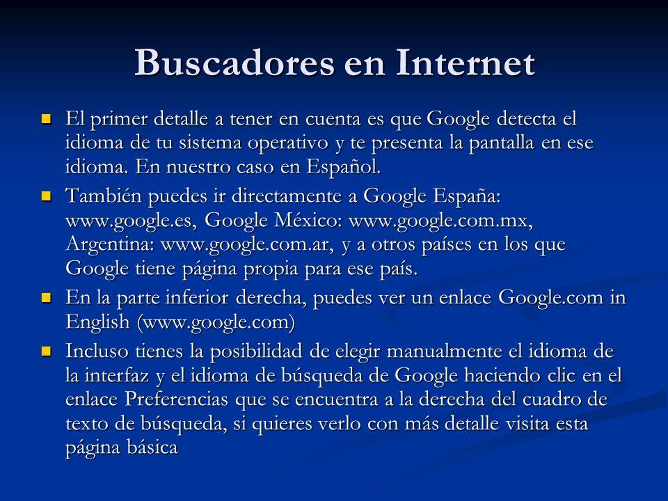 El primer detalle a tener en cuenta es que Google detecta el idioma de tu sistema operativo y te presenta la pantalla en ese idioma.