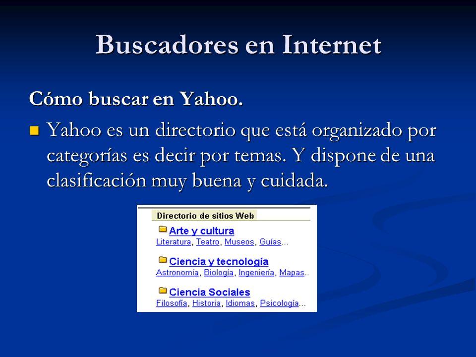Buscadores en Internet Cómo buscar en Yahoo.