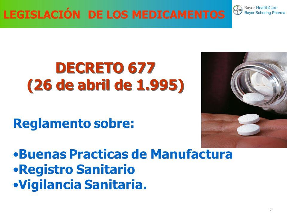 4 Decreto 677 de 1.995 Registro Sanitario Es el documento público expedido por el INVIMA, el cual faculta a una persona natural o jurídica para producir, comercializar, importar, exportar y/o expender un medicamento.