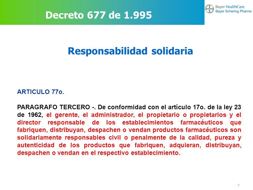 19 Exigencia para el expendio DECRETO 3050 DE 2005 (septiembre 1º) Por el cual se reglamenta el expendio de medicamentos.