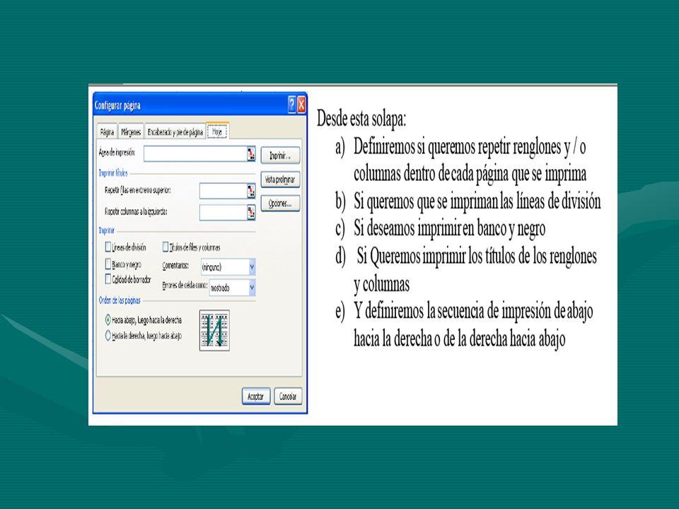 Vista Preliminar Una vez que se haya establecido el área de impresión y que se han configurado las páginas podemos observar el documento por medio de la ruta Archivo/Vista Preliminar.Una vez que se haya establecido el área de impresión y que se han configurado las páginas podemos observar el documento por medio de la ruta Archivo/Vista Preliminar.