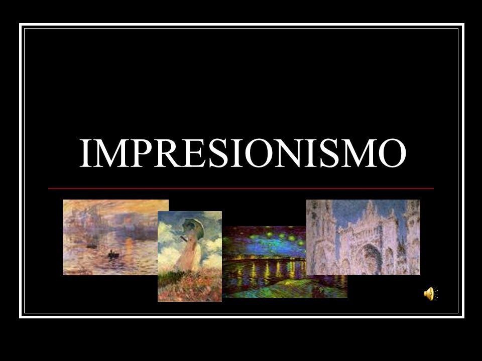 Principales artístas: Francia: Claude Monet (1840-1926), Edouard Manet (1832-1883), Auguste Renoir (1841-1919), Edgar Degas (1841-1919), Camille Pisarro (1830-1903) y Alfred Sisley (1839-1899).