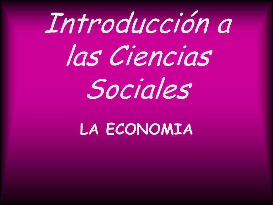 Introducción a las Ciencias Sociales LA ECONOMIA