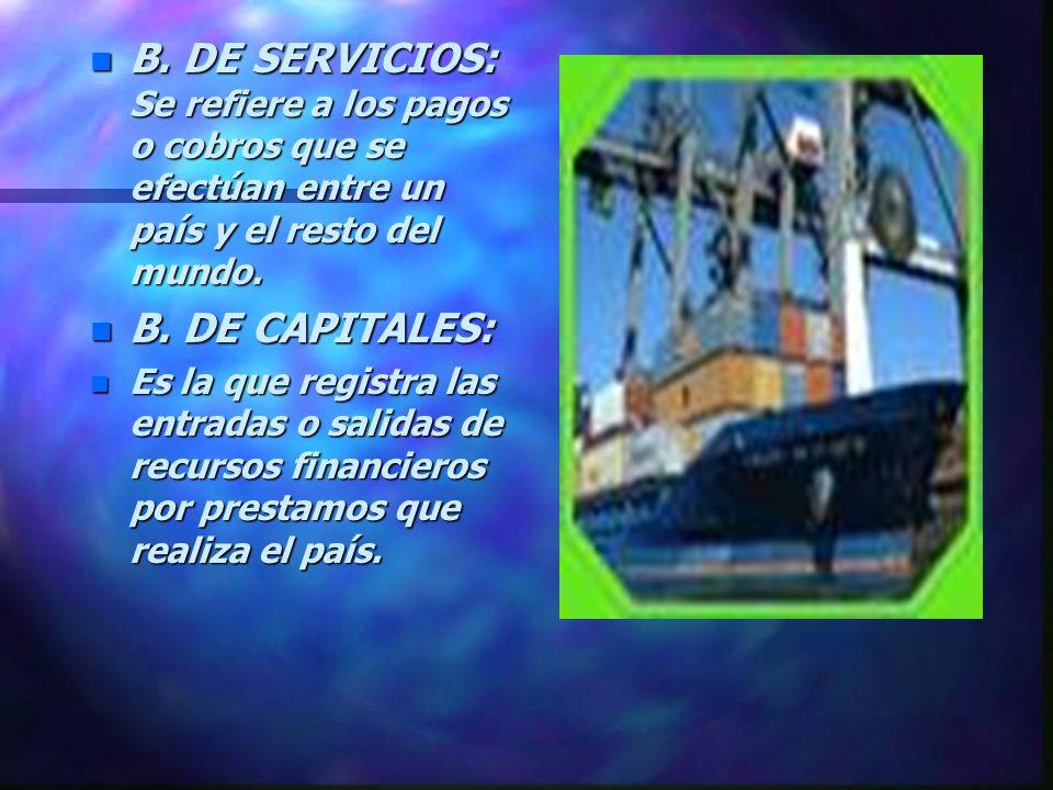 TIPOS DE BALANZAS n B. COMERCIALES: Es la diferencia entre el total de las exportaciones y el total de las importaciones. n B.PAGOS: Es el instrumento