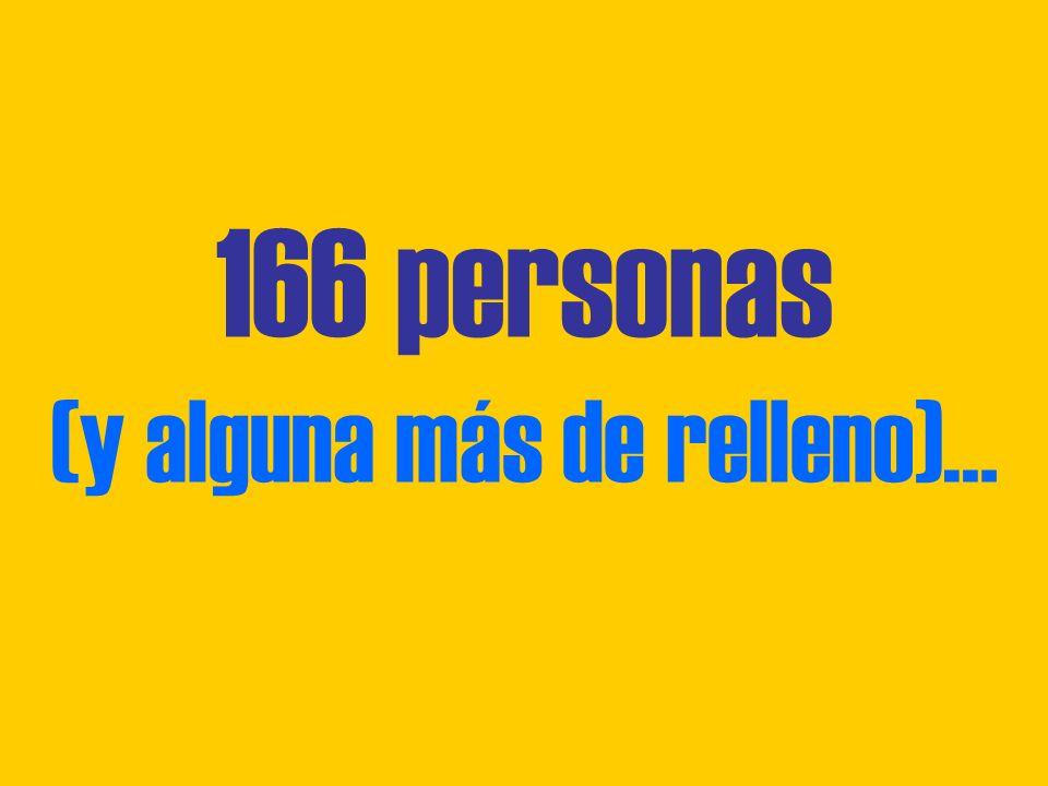 166 personas (y alguna más de relleno)…