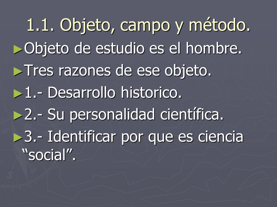 Unidad 1. Las Ciencias sociales.
