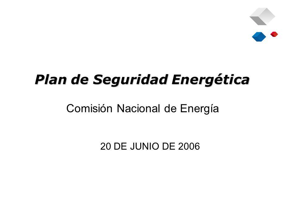 Plan de Seguridad Energética Comisión Nacional de Energía 20 DE JUNIO DE 2006