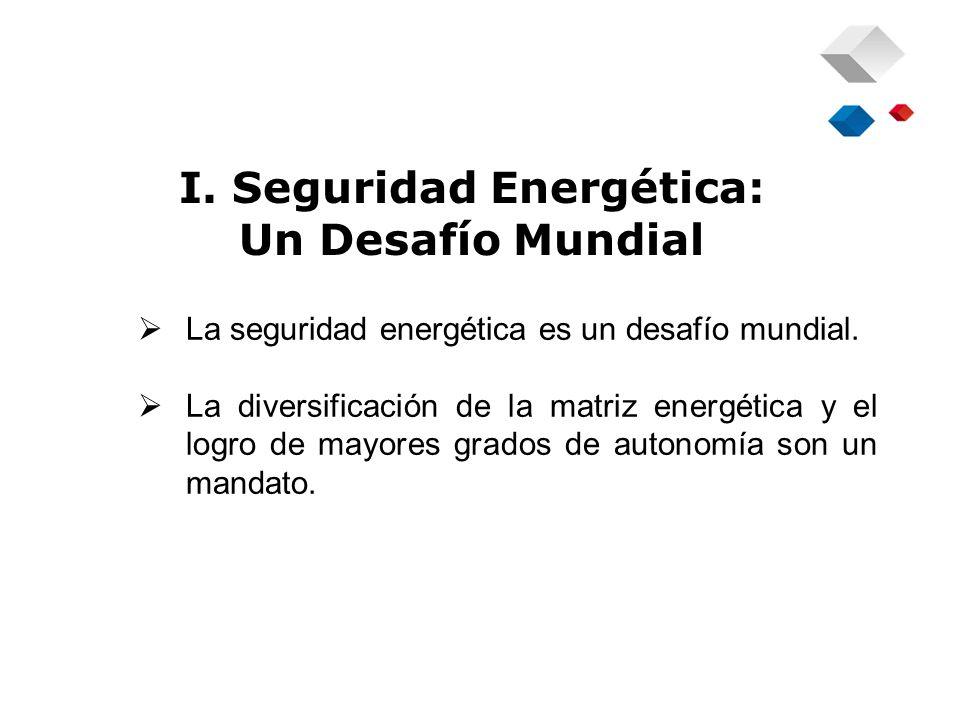I. Seguridad Energética: Un Desafío Mundial La seguridad energética es un desafío mundial.