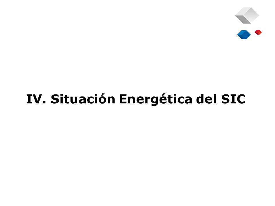 IV. Situación Energética del SIC