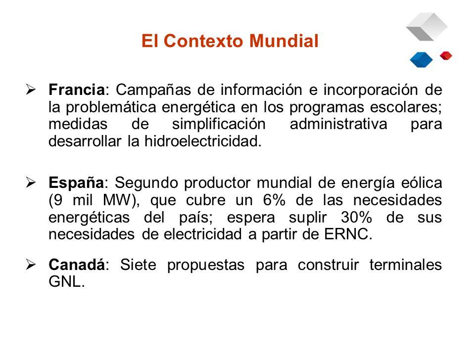 Efectos de Restricciones de Gas Año 2006 Abastecimiento basado en centrales a carbón y petróleo pesado.