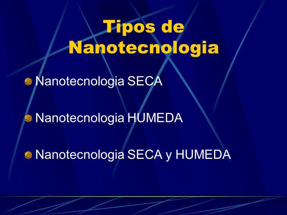 Tipos de Nanotecnologia Nanotecnologia SECA Nanotecnologia HUMEDA Nanotecnologia SECA y HUMEDA