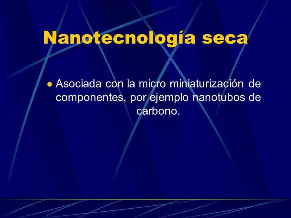 Nanotecnología seca Asociada con la micro miniaturización de componentes, por ejemplo nanotubos de carbono.