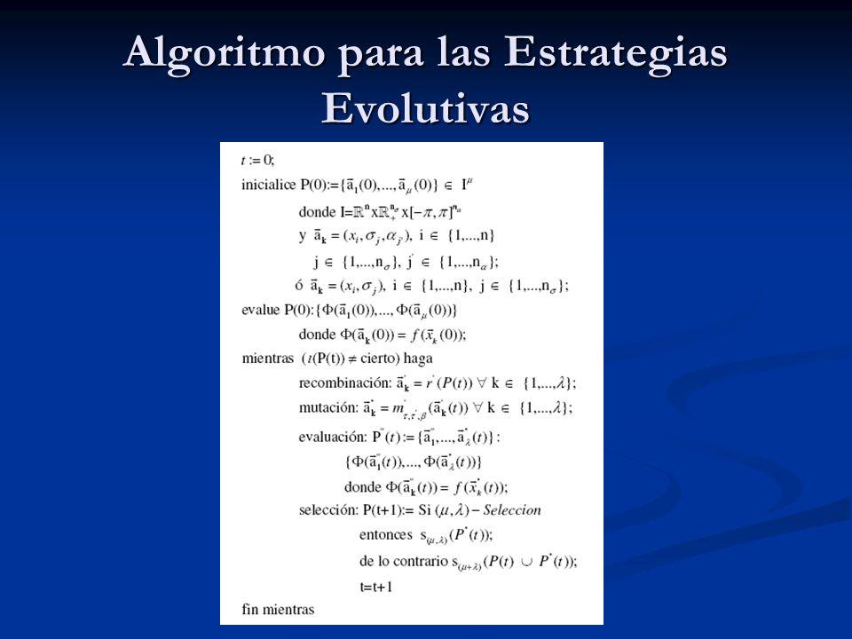 Algoritmo para las Estrategias Evolutivas
