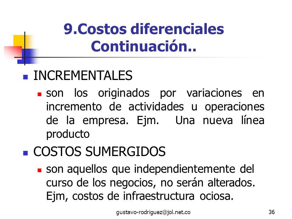 gustavo-rodriguez@jol.net.co36 9.Costos diferenciales Continuación..