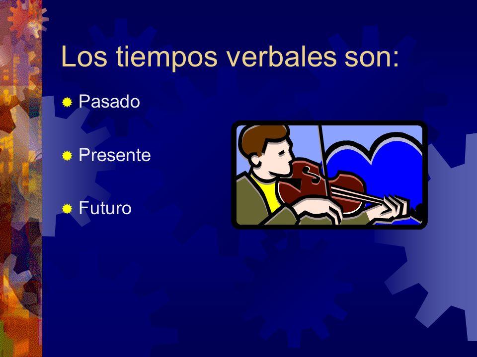 Objetivos Luego de una serie de actividaes los estudiantes demostrarán dominio al identificar los verbos y el tiempo.