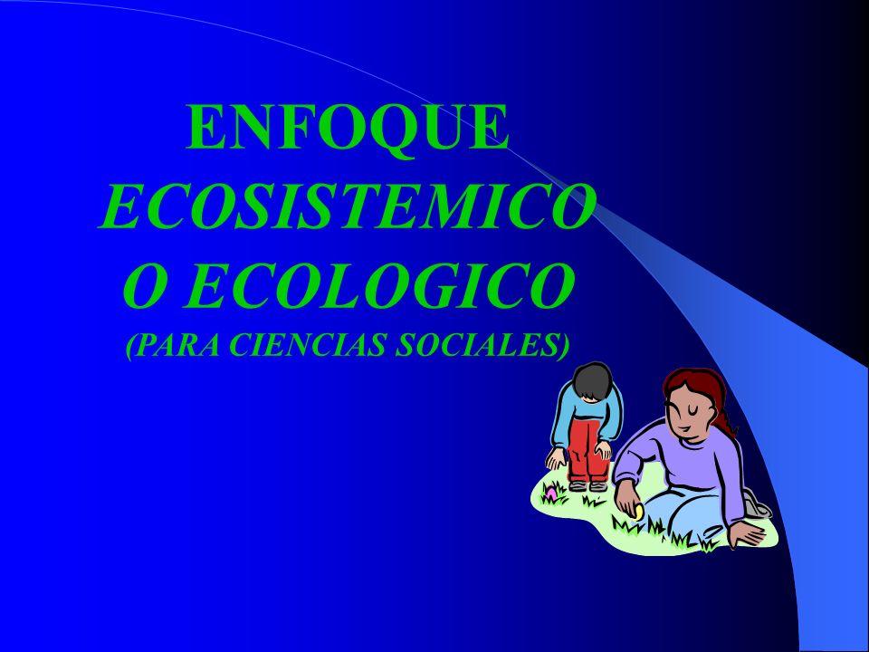 ENFOQUE ECOSISTEMICO O ECOLOGICO (PARA CIENCIAS SOCIALES)