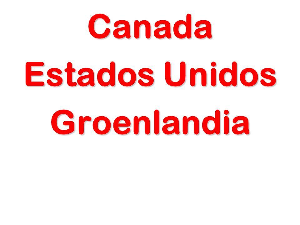 Canada Estados Unidos Groenlandia