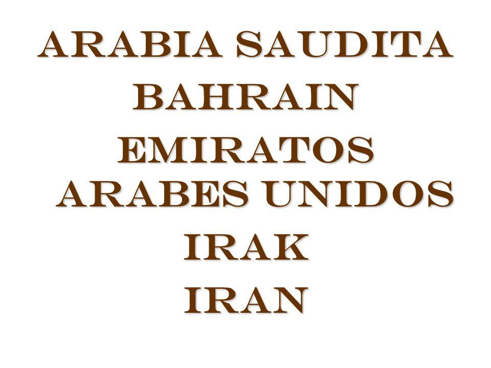 Arabia Saudita Bahrain Emiratos Arabes Unidos IrakIran